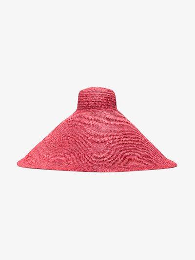 pink Le Grand Chapeau raffia hat