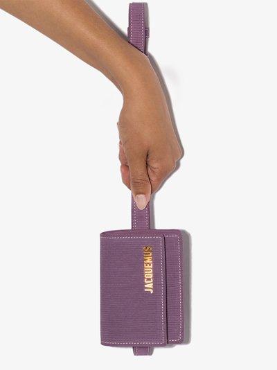purple la ceinture bello suede cross body bag