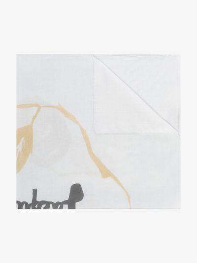 white le bandeau logo print scarf