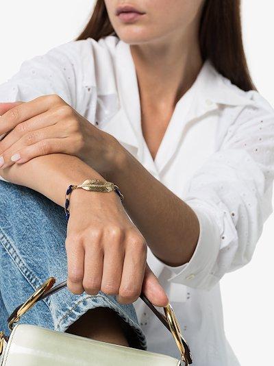 14K Yellow Gold lapis lazuli Diamond Bracelet