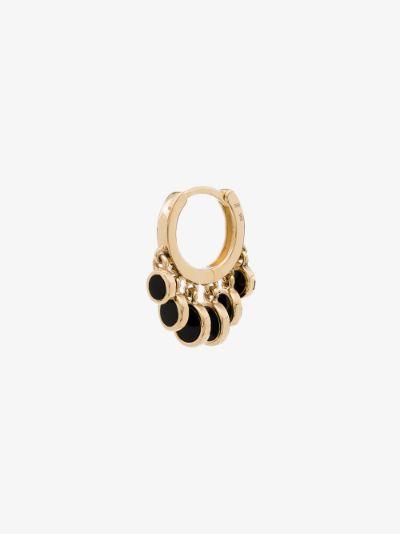 14K yellow gold Shaker hoop earring