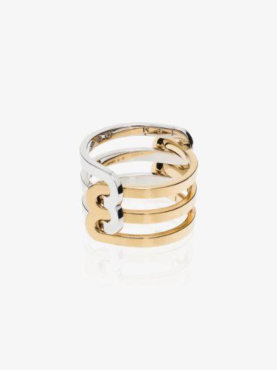 18K yellow and white gold Étreintes ring