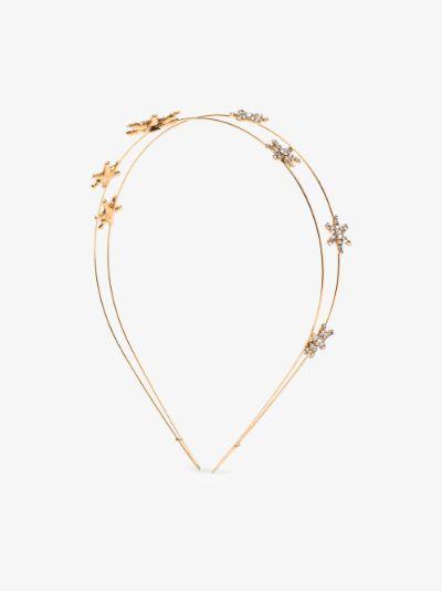 gold tone Antares crystal star headband