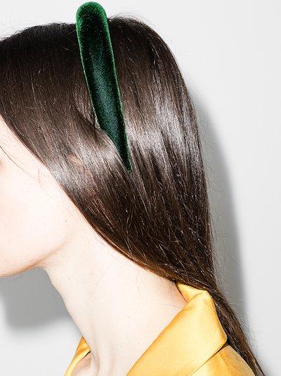 green Tori velvet headband