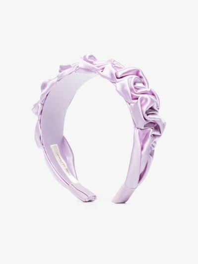 lilac Amelia silk headband