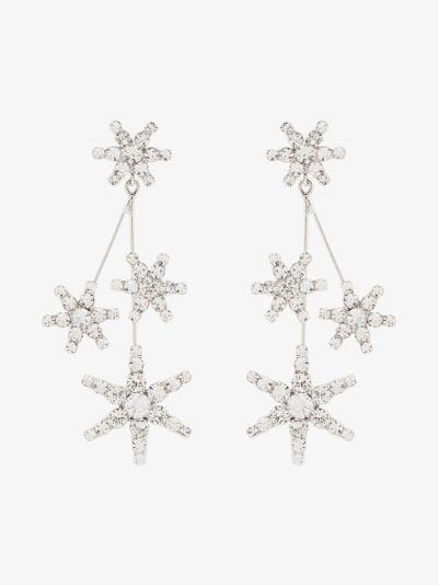 silver tone Saros crystal earrings