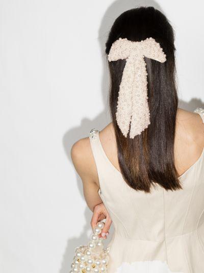 white Bailey bow hair clip