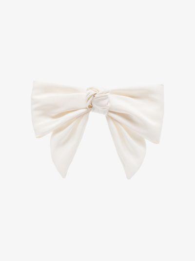 White Blythe silk bow hair clip