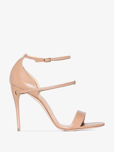 beige Rolando 105 leather sandals
