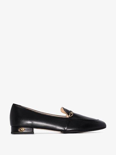 black Fabrizio leather loafers