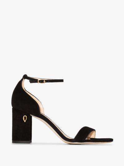 black Massimo 85 suede sandals