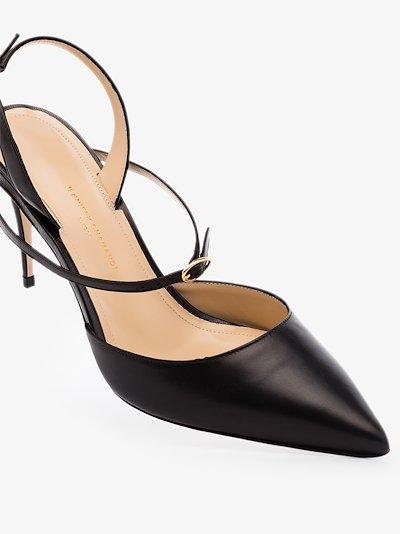 Black Vittorio 85 patent leather pumps