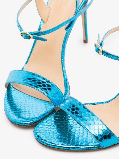 blue Tommaso 105 snake print leather sandals