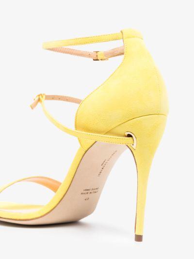 yellow Rolando 105 suede sandals