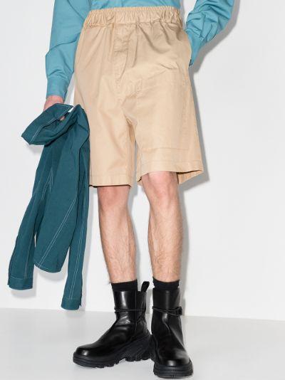 asymmetric pocket shorts
