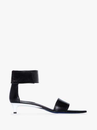 Black 35 ankle strap leather sandals