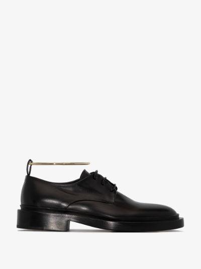 black anklet leather Derby shoes