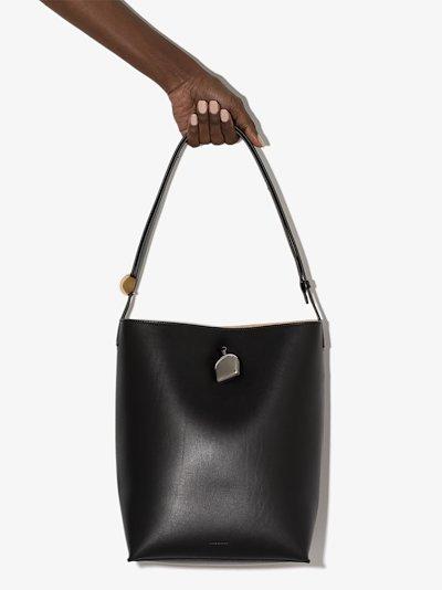 black Constantin leather shoulder bag
