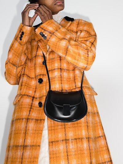black mini leather cross body bag