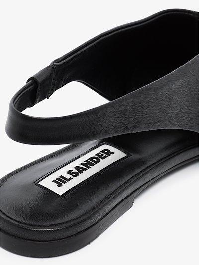 Black Slingback Leather Pumps