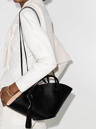 black Sombrero small leather tote bag