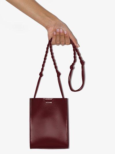 Bordeaux Tangle Leather Cross Body Bag