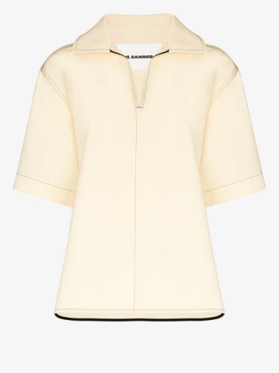 boxy polo shirt