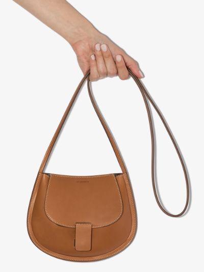 brown mini leather cross body bag