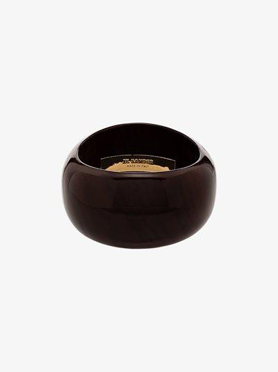 brown polished wood bangle