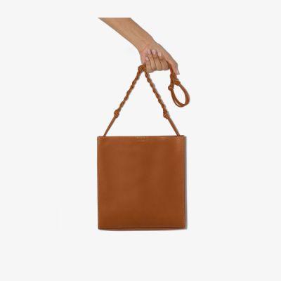 brown Tangle medium leather cross body bag