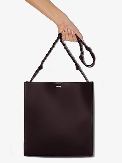 burgundy Tangle leather shoulder bag