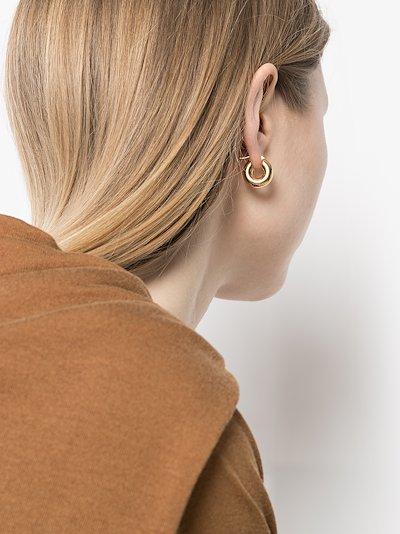 gold-plated mini hoop earrings