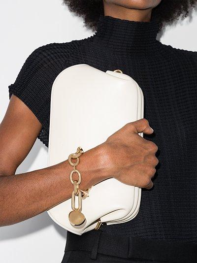 gold tone sphere chain bracelet