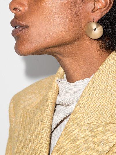 gold tone Sphere earrings