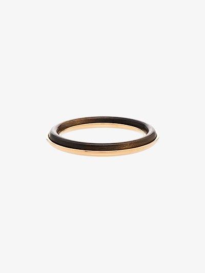 gold tone wood bangle