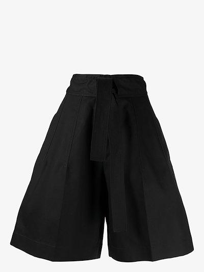 High waist bow detail wide shortsHigh waist bow detail wide shorts