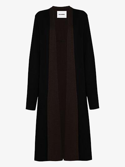 jersey knit long cardigan