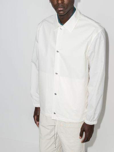 logo technical shirt jacket