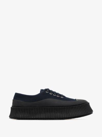 navy Olona canvas platform sneakers
