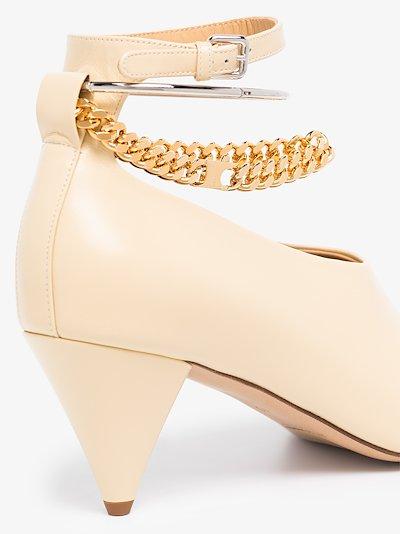 neutral 65 anklet leather pumps