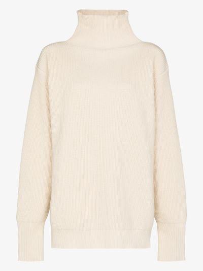 Plus roll neck cotton sweater