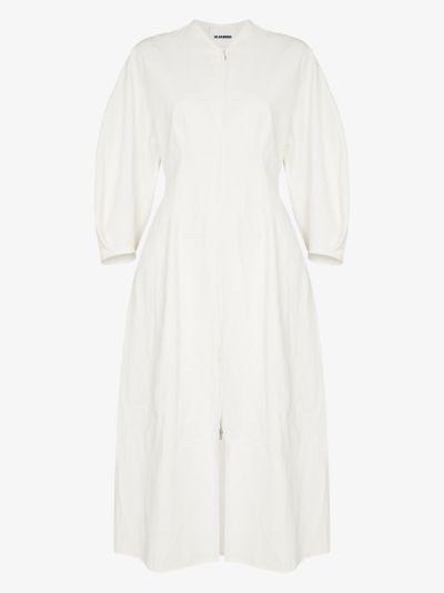 puff sleeve linen coat