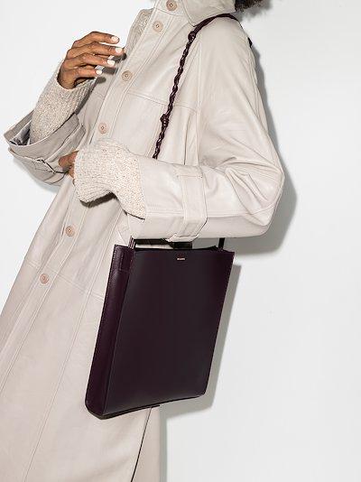 purple Tangle medium leather shoulder bag