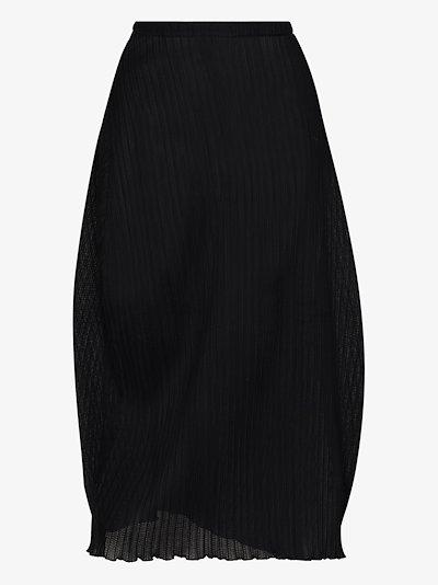 ribbed tulip midi skirt