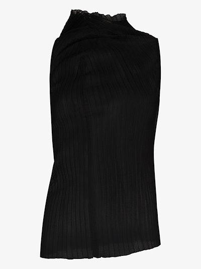 sleeveless ribbed turtleneck top