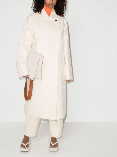 straight cotton coat