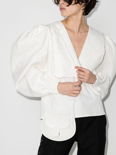 white mini leather cross body bag