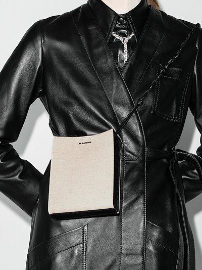 White Tangle Leather Cross Body Bag