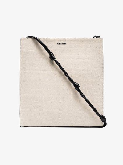 white Tangle medium canvas shoulder bag