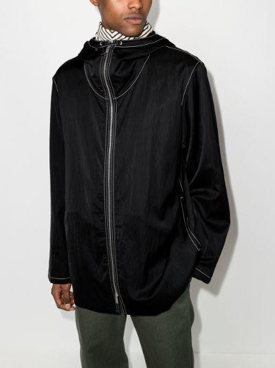 wrinkled tech jacket